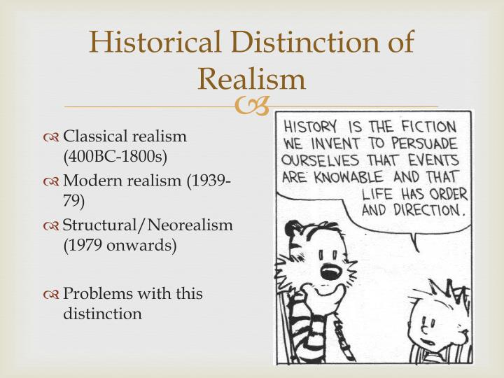 Historical distinction of realism