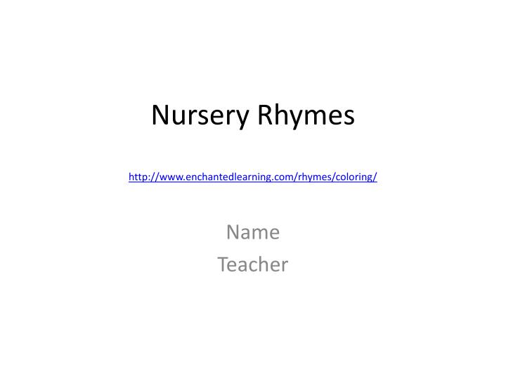 nursery rhymes http www enchantedlearning com rhymes coloring n.