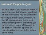 now read the poem again