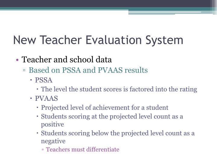 New Teacher Evaluation System
