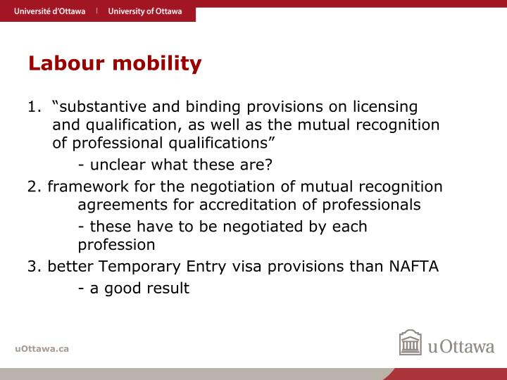 Labour mobility