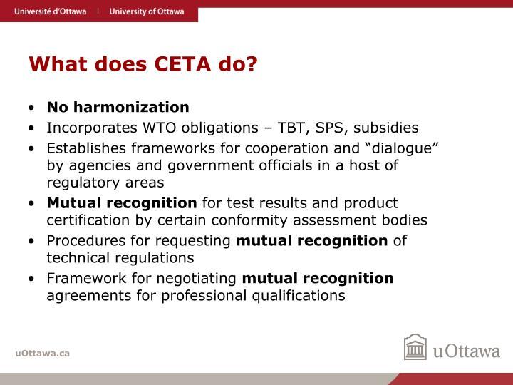 What does CETA do?