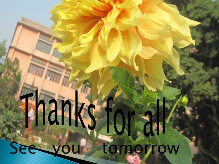 Thanks for all