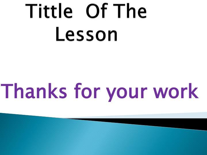 Tittle