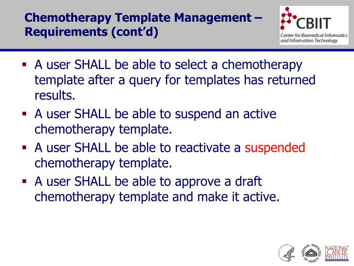 PPT - Chemotherapy Template Management - Requirements PowerPoint ...