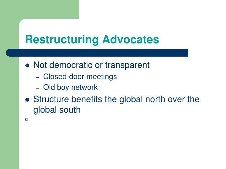 Restructuring Advocates