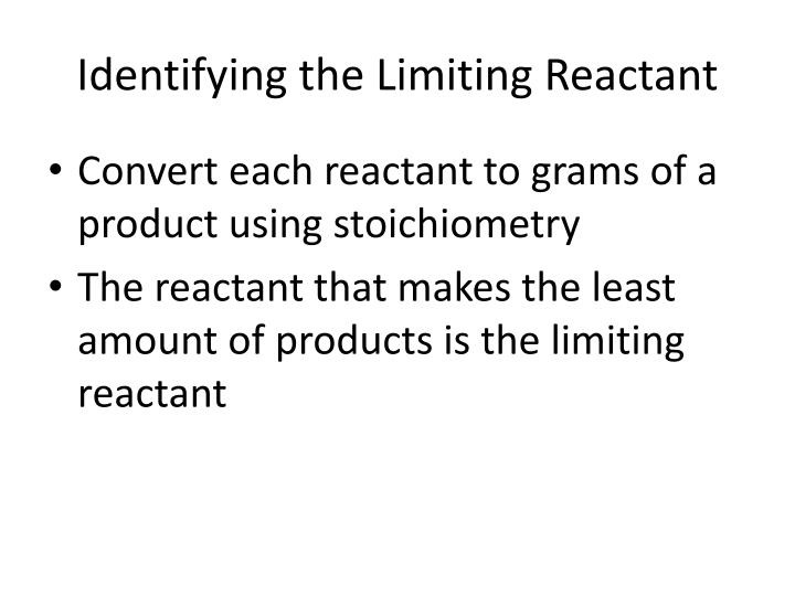 stoichiometry and limiting reactants