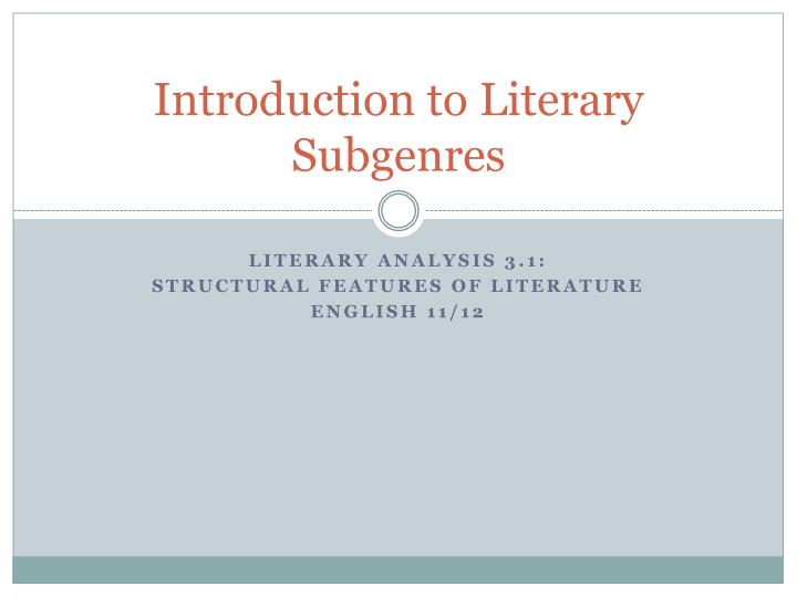 an introduction to the analysis of literary devices
