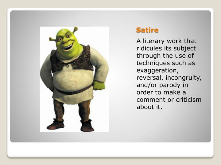 Ppt Satire Powerpoint Presentation Free Download Id 2568904
