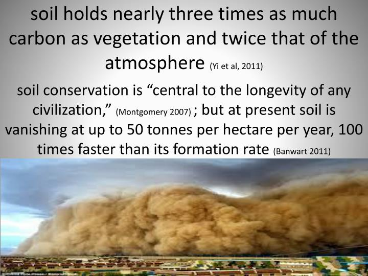"soil conservation is ""central to the longevity of any civilization,"""