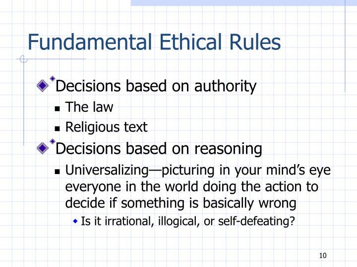 Fundamental Ethical Rules
