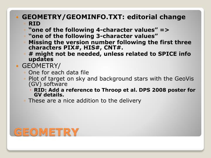 GEOMETRY/GEOMINFO.TXT: editorial change
