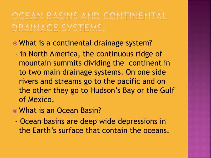 Ppt processes that lead to the creation of ocean basins for House drainage system ppt
