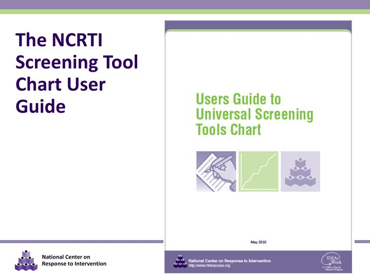 The NCRTI Screening Tool Chart User Guide