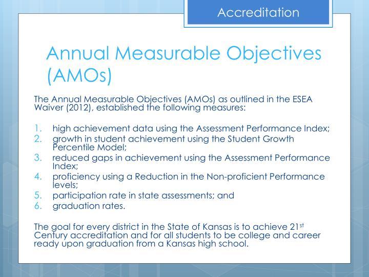 Annual measurable objectives amos