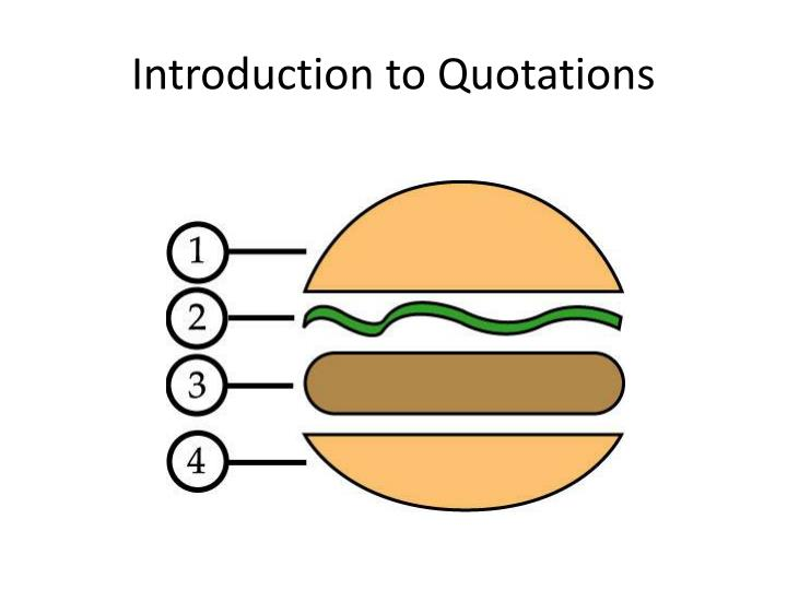 introduction to quotations n.