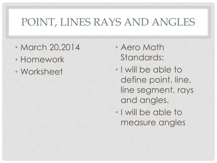 point lines rays and angles n.