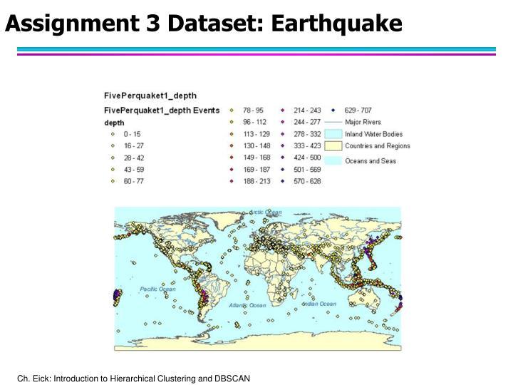 Assignment 3 Dataset: Earthquake