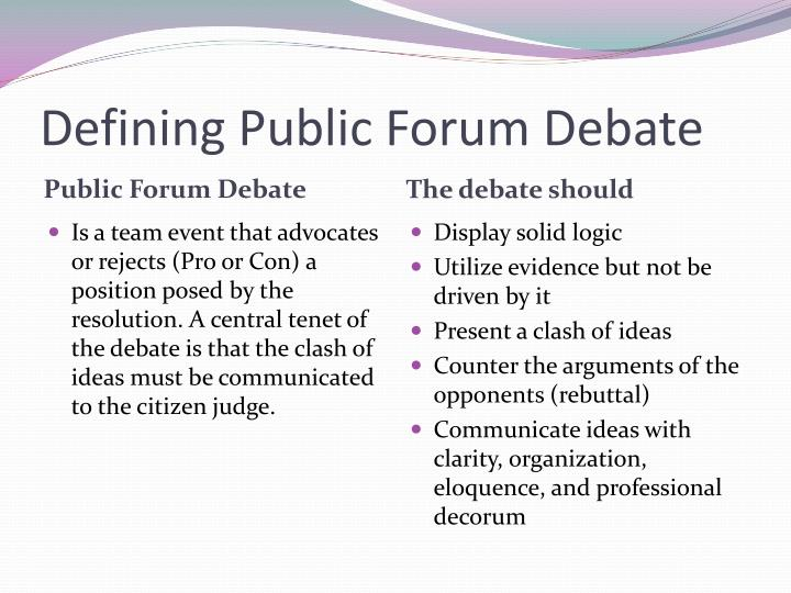february 2012 public forum debate case The legal doctrine at issue in the case is the public forum doctrine where the government has traditionally allowed speech on its property, such as in parks, open town hall meetings, and sidewalks, as mike has written before, the government may only enact narrow, content-neutral, time, place and manner restrictions.