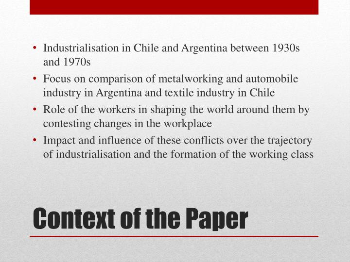 Context of the paper