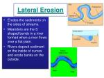lateral erosion