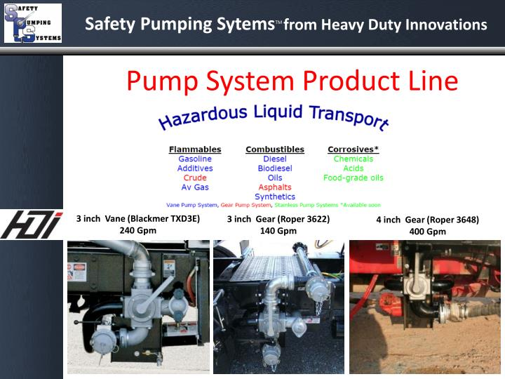 Pump System Product Line