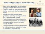 historical approaches to youth citizenship