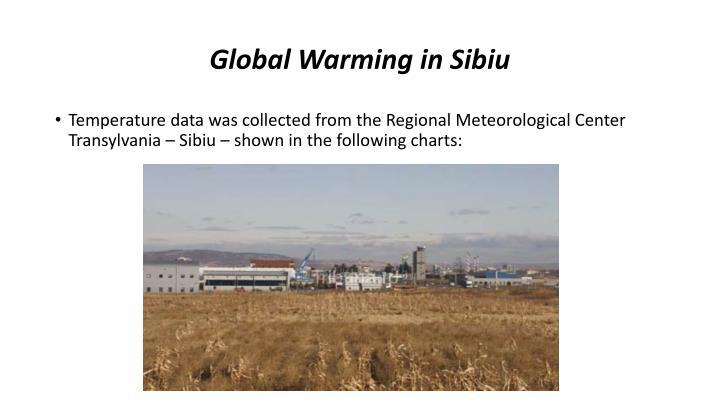 Global Warming in Sibiu