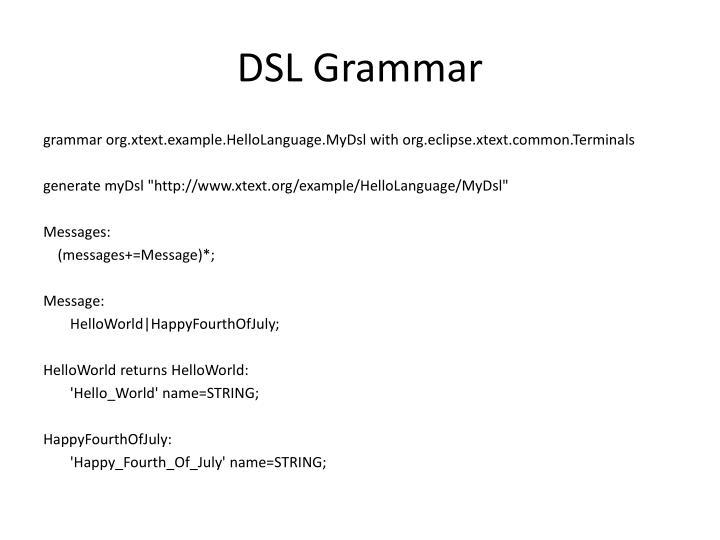 DSL Grammar