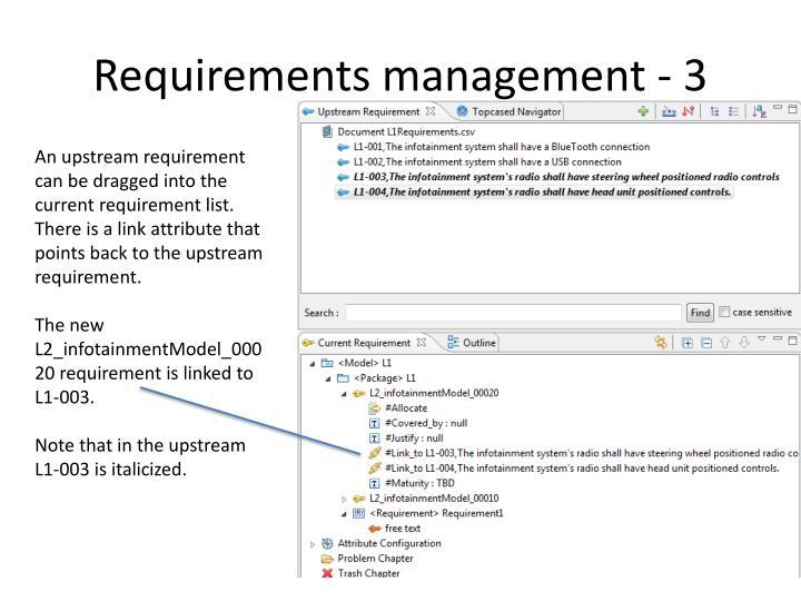 Requirements management - 3