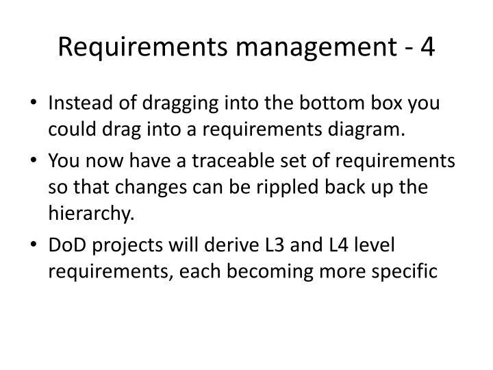Requirements management - 4