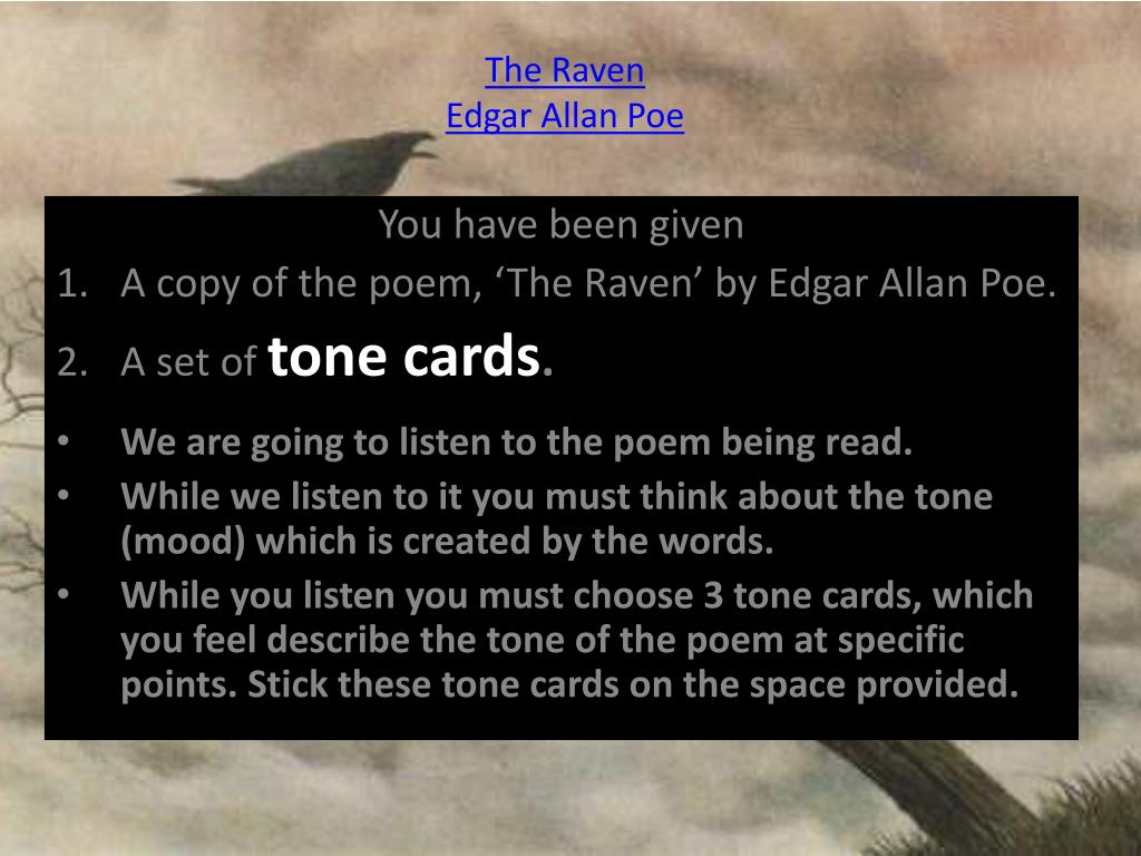 Ppt The Raven Edgar Allan Poe Powerpoint Presentation