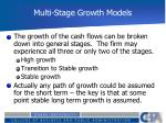 multi stage growth models