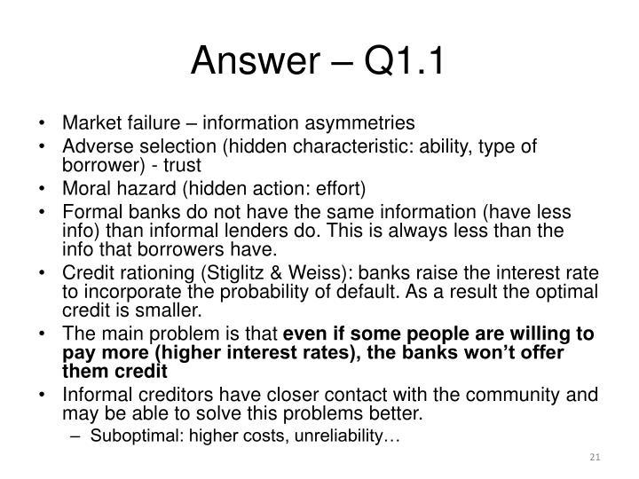 Answer – Q1.1