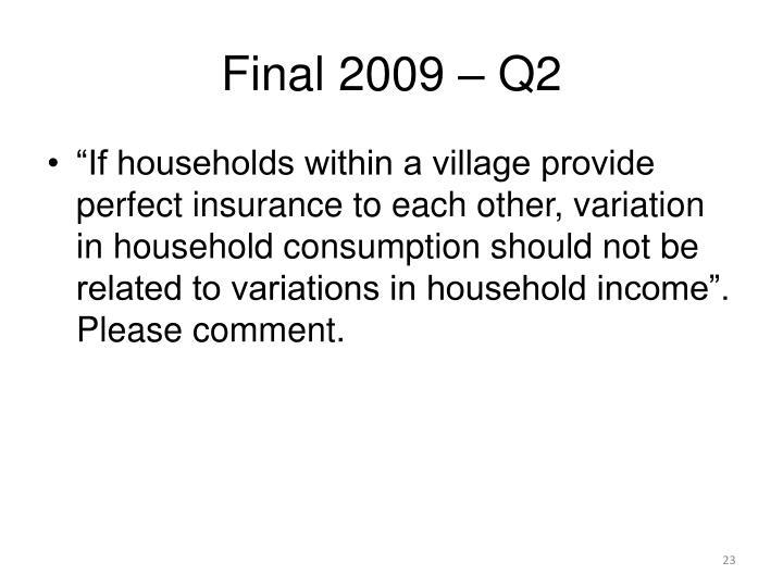 Final 2009 – Q2