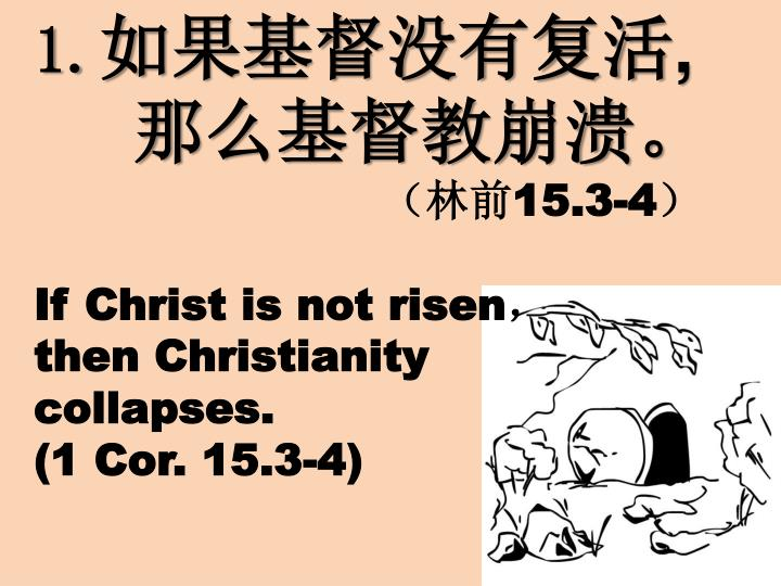 1 15 3 4 if christ is not risen then christianity collapses 1 cor 15 3 4