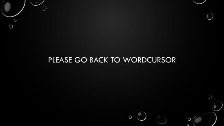 Please go back to