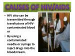 causes of hiv aids