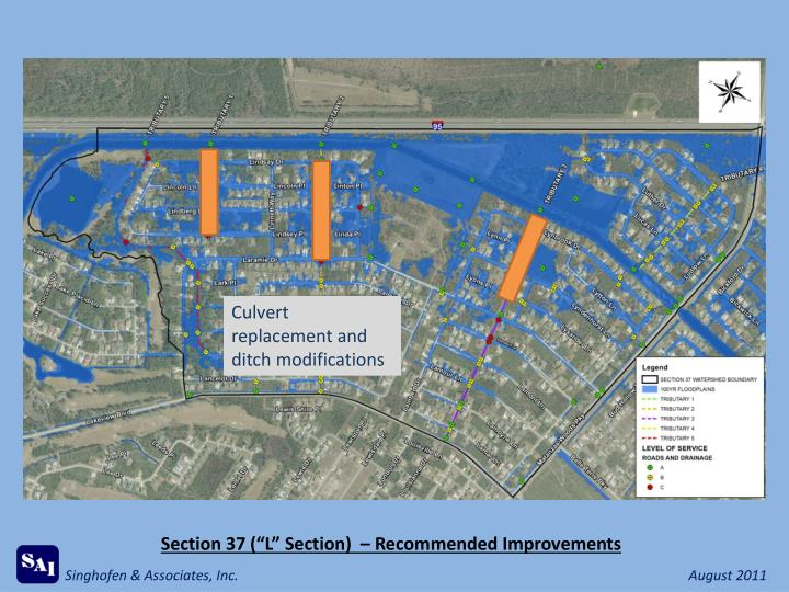 Culvert replacement and ditch modifications
