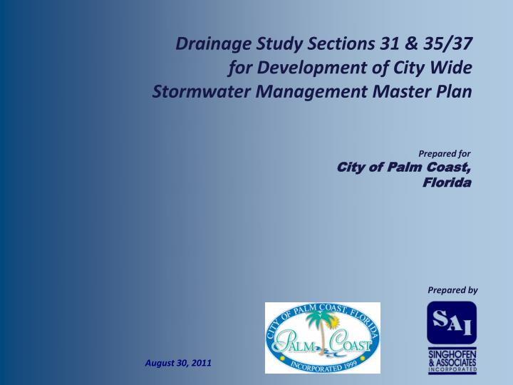 Drainage Study Sections 31 & 35/37