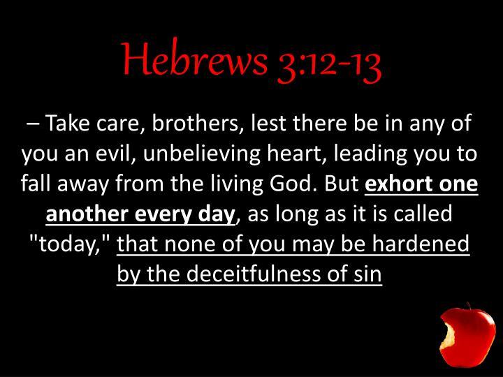 Hebrews 3:12-13
