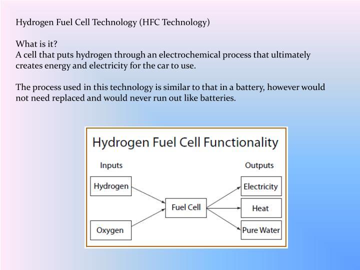 Hydrogen Fuel Cell Technology (HFC Technology)