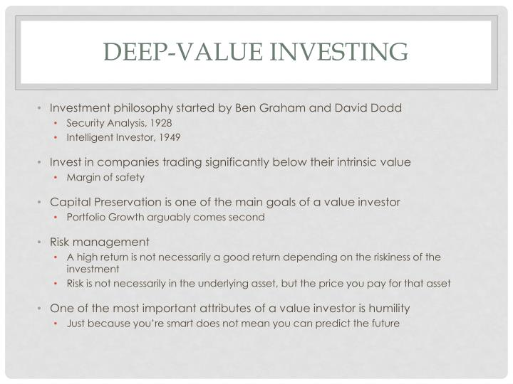 Deep-value investing