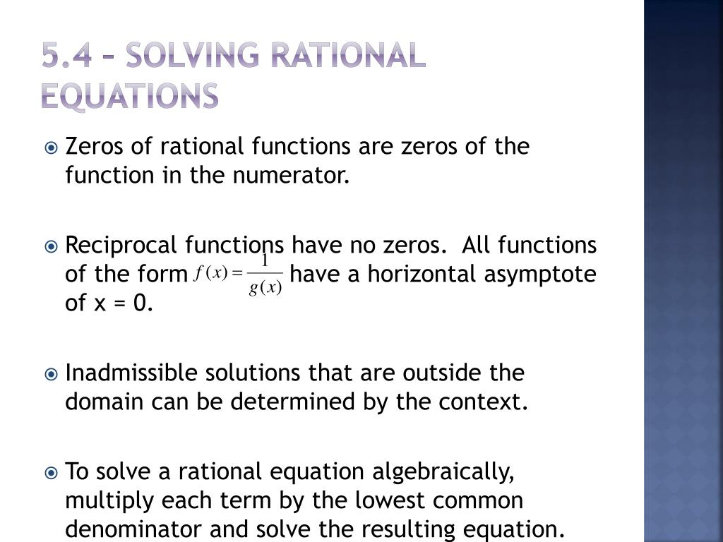 Solving Functions
