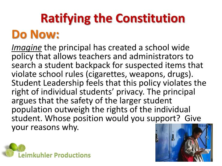 Ppt Ratifying The Constitution Powerpoint Presentation Id2570337