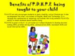 benefits of p d h p e being taught to your child