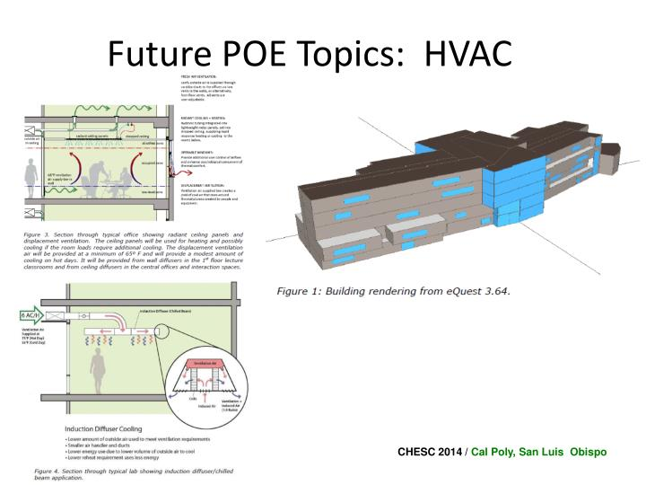 Future POE Topics:  HVAC