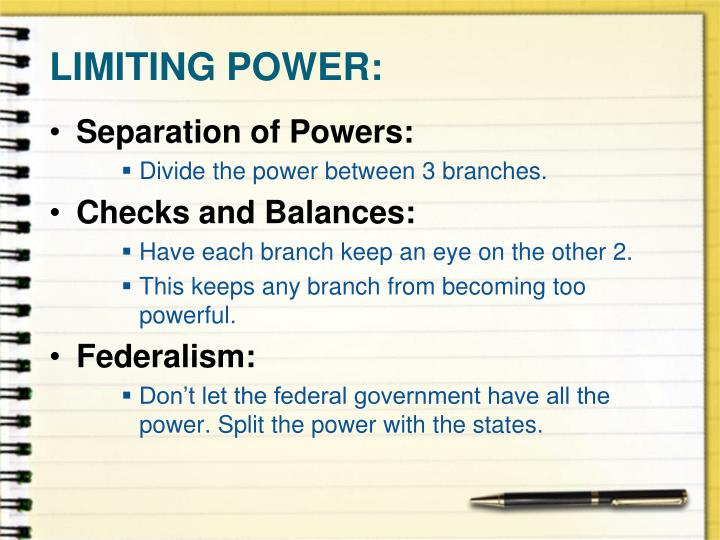 LIMITING POWER: