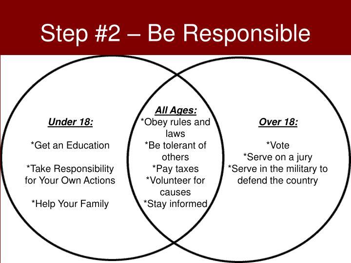 Step #2 – Be Responsible