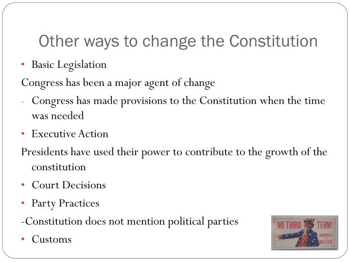 Other ways to change the Constitution